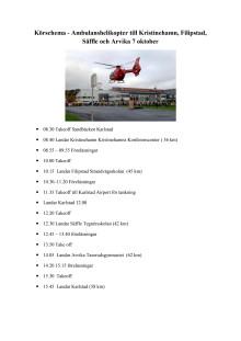 Körschema Ambulanshelikopter POSOM 7 oktober 2013