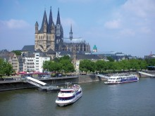 Millionbyen Köln fra andre perspektiv