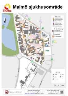 Karta busslinje Malmö Sjukhusområde