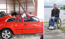 Tilbake på ulykkesstedet for å lære unge sjåfører om trafikksikkerhet