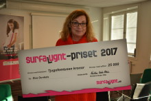 Elza Dunkels vinnare av Surfa Lugnt-priset 2017