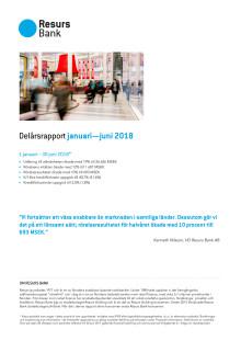 Resurs Bank Delårsrapport januari—juni 2018