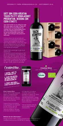 Skapa din egen vinetikett på creativewine.se