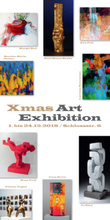 Programm Flyer Xmas Art Exhibition