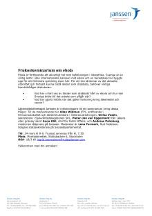 Inbjudan till Frukostseminarium Ebola 24 mars