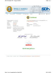 Certifikat Trygg E-handel