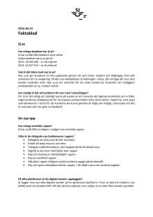 Faktablad SJs digitala kanaler