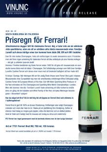 Prisregn för Ferrari!