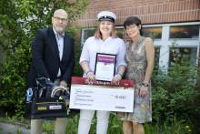 Elev vid Tyresö gymnasium belönades med Bygmastipendiet