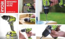 Ny RYOBI® 14,4 V Lithium-Ion Bor/skrutrekker - Neste generasjons verktøy