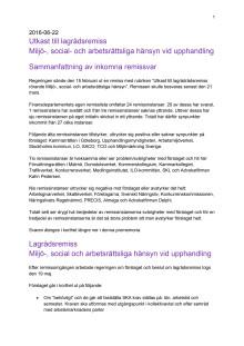 Remissammanställning miljö-, social- och arbetsrättsliga hänsyn vid upphandling