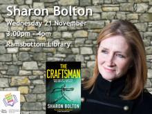 Meet thriller writer Sharon Bolton at Ramsbottom Library
