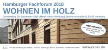 Hamburger Fachforum - WOHNEN IM HOLZ - 20. September 2018