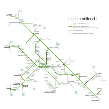 London Midland Route Map