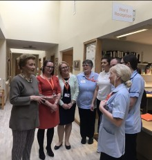 Amanda Cottrell OBE – new patron of ellenor charity visits the Hospice