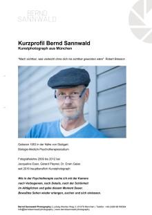 Kurzprofil und Ausstellungen von Bernd Sannwald