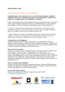 Platssamverkan för ett tryggare Hagalund - pressmeddelande