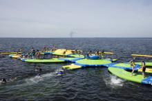 Vattenhinderbanan vid T-bryggan blir ännu större i år