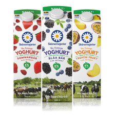 Skånemejerier lanserar närproducerad Fruktyoghurt med extra mycket frukt
