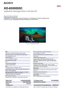 KD-65X8505C von Sony