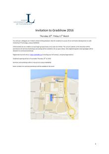 Gradshow 2016