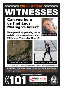 Lucy McHugh murder investigation – new leaflet drop