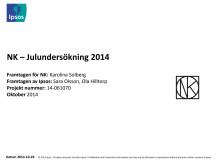 NK:s undersökning av svenskarnas jultraditioner 2014