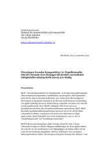 Remissvar: SKAP:s synpunkter på förslaget till direktiv om kollektiv rättighetsförvaltning