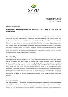 Isländisches Traditionsprodukt neu entdeckt: Arla® SKYR ab Juni auch in Deutschland