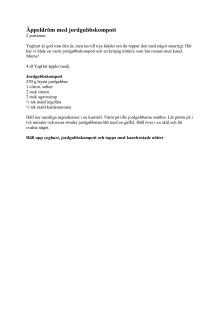 Recept på Äppeldröm med jordgubbskompott