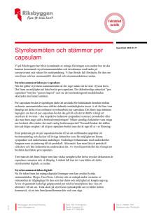 Styrelsemöten och stämmor per capsulam