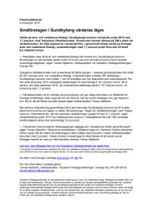 Värdebarometern 2015 Sundbybergs kommun