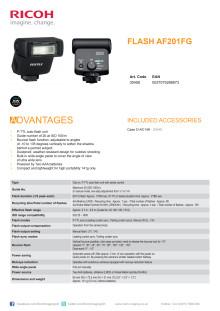 Pentax AF 201 FG, specifikationer