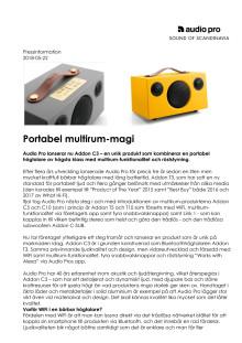 Portabel multirum-magi från Audio Pro