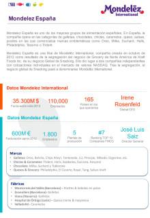 Factsheet Mondelez España 2013