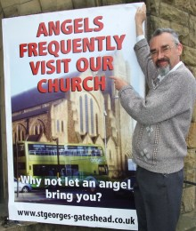 'Angel' sighted at Gateshead church