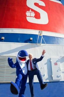 Stena Line heißt HAPPY den Tümmler herzlich Willkommen an Bord!