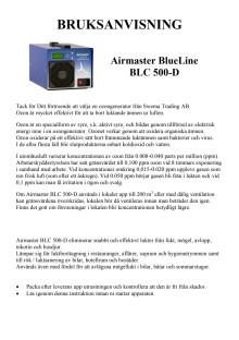 Airmaster BLC 500-D bruksanvisning