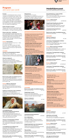 Stadsmuseets och Medeltidsmuseets program hösten/vintern 2017