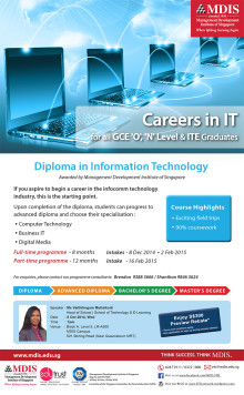 EXCLUSIVE PREVIEW: Diploma in Information Technology (Awarded by Management Development Institute of Singapore)