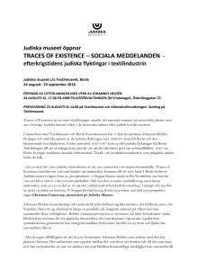 Traces of Existence - Sociala meddelanden av Johannes Heldén