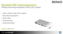 Komplett USB-C dockningsstation från DELTACO