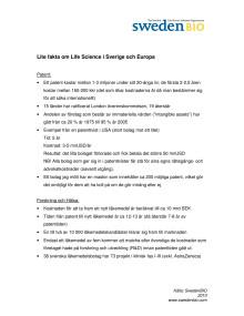 Lite fakta om Life Science i Sverige och Europa - SwedenBIO