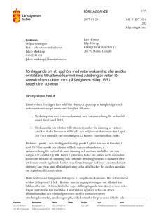 Länsstyrelsens beslut för kraftverket i Rössjöfors