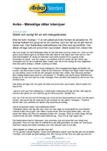 Intervjuer med medarbetare - Mänskliga Rätter
