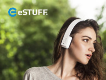 Chic bluetooth on-ear headphones from eSTUFF