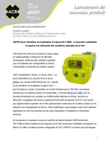 ARTEX lance l'émetteur de localisation d'urgence ELT 4000