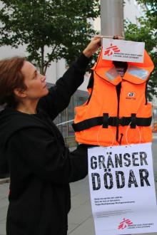 Flytvästkampanj i Stockholm: Gränser dödar