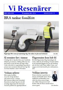Trafikledare Fredrik Anrin intervjuas för Vi Resenärer