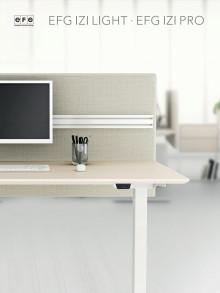 Sähkösäätöiset EFG Izi Light/Pro -pöydät